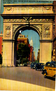 The Washington Arch in the 1940s.